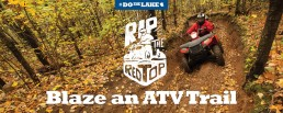 ATV riding on Mille Lacs trails