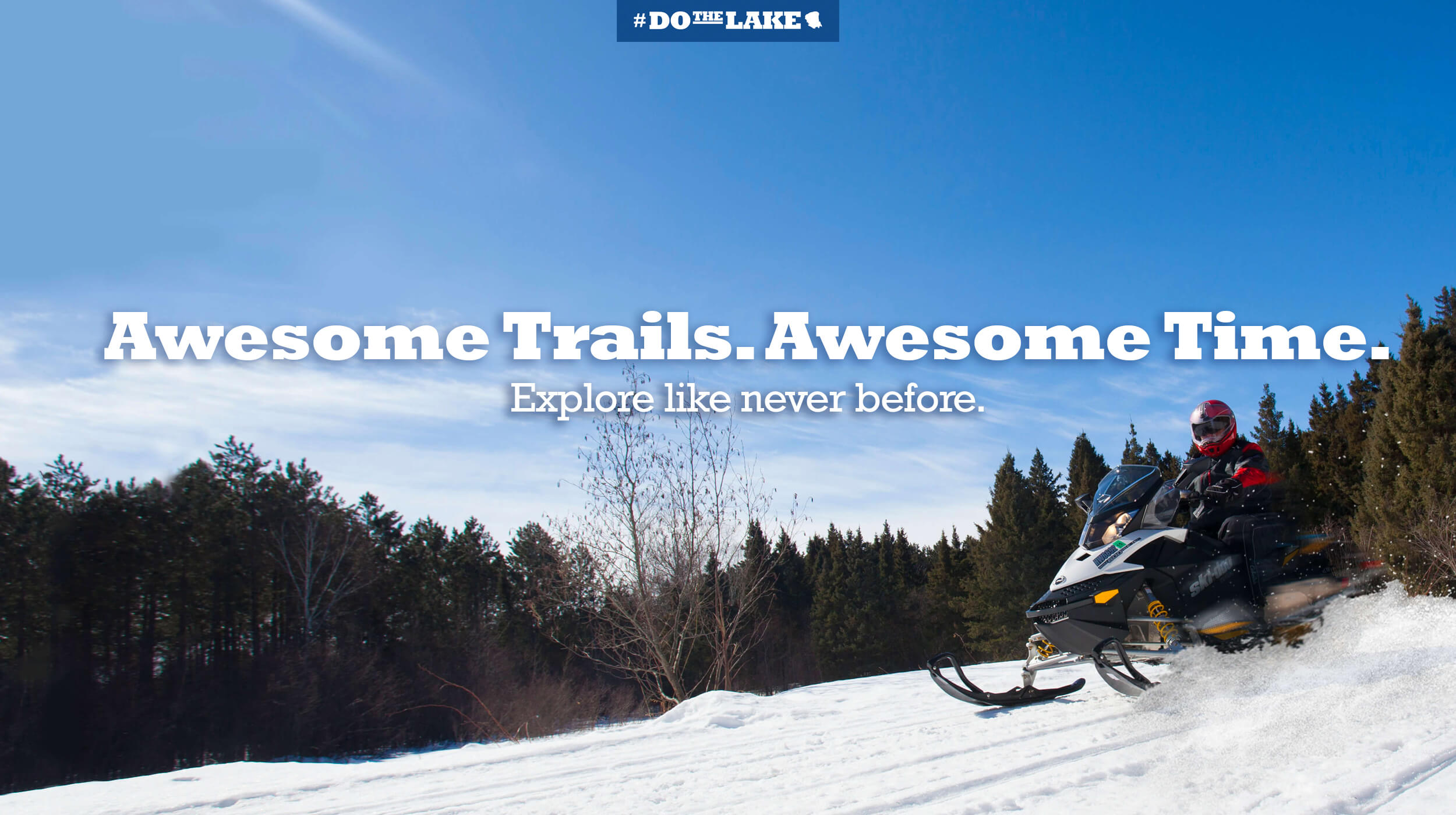 Snowmobiling awesome trails
