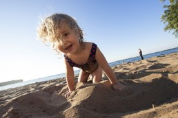 Child on Father Hennepin beach