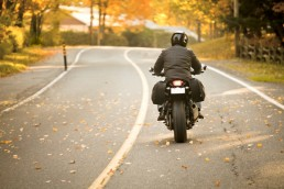 Motorcycling in the Fall