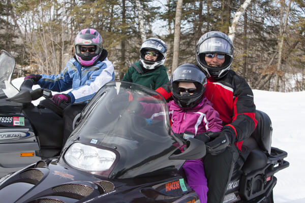 Snowmobiling family